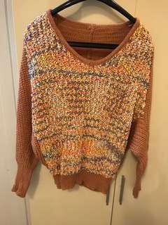 🚚 彩虹針織上衣 毛衣