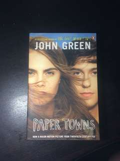 paper town by john green (movie cover edition)