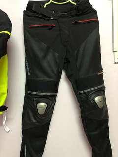 Komine Mesh Leather Titanium Alloy Riding Pants