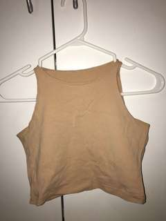 American Apparel Nude Crop Top