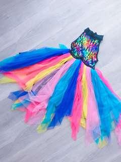 🌈GIRL colourful Tutu Dress