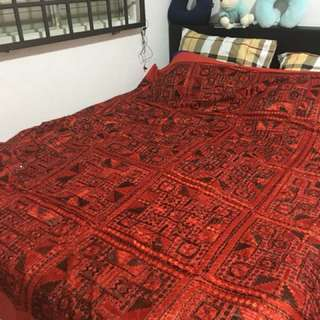 King size bed cover handmade