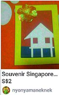 "Children kid handicraft diy  Art and craft packs  Comes with a frame A backing piece A kampong cut out A ""sun""  Promotes eye hand motor skills  Pick up from hougang buangkok mrt  Or add $1 for postage"