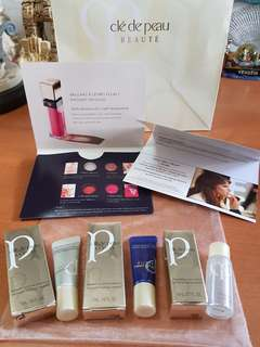 Cle de Peau protective & intensive emulsion, Eye & Lip makeup remover, Lip gloss, facial treatment