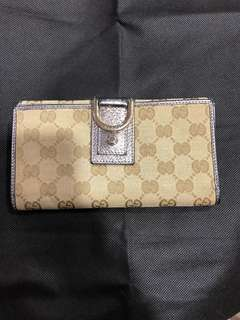 Authentic Gucci abbey GG canvas long wallet