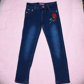SALE! Skinny jeans rose embroidery