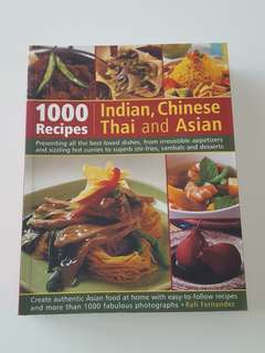 1000 recipes Indian, Chinese, Thai and Asian Book
