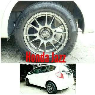 Tyre 195/60 R15 Membat on Honda Jazz 🐕 Super Offer 🙋♂️