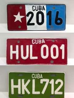 3 x 花俏✨古巴特色掛牆紀念品車牌 手信 藝術品 手工藝品 😍3 x Cuba souvenir from craft market