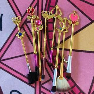 Sailormoon wands makeup brushes NEVER USED