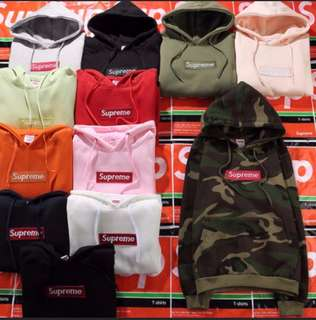 Supreme New York Embroidered Logo Hoodie Pullover Sweater