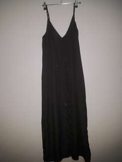 long black silk dress