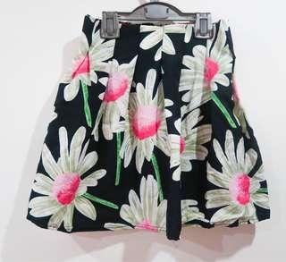 Korean Floral Skirt (Pink)