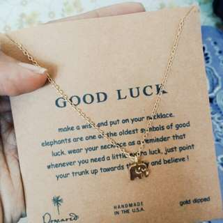 Reprice! Good Luck Elephant Necklace