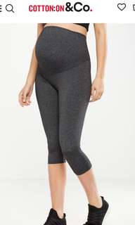 Cotton On Maternity Core Capri Over Belly Tight Pants