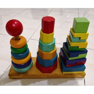 Reduced: Wood stacking puzzle