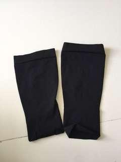 Below the knee leg compression socks legging maternity pregnancy pregnant black support