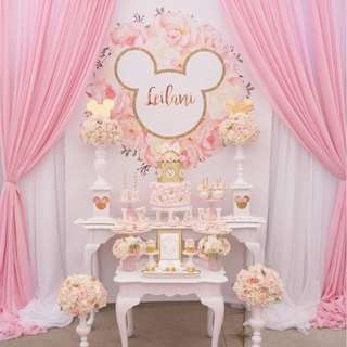 ELEGANT PRINCESS  Themed Birthday Party (Party Supplies) Pls CHAT with us for the detailed/specific product listing & price.. We Have wide range of stocks pre printed & personalized printables…