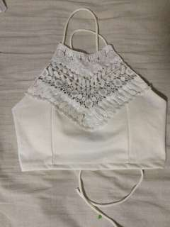 HALTER LACE TOP
