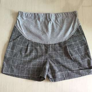 Checkered Maternity Shorts