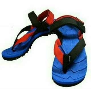 Sandal Gunung Suzuran Extreme x Mr1 Blue w Red Black
