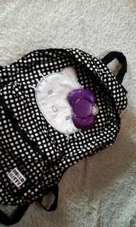 Orig Hello Kitty black polka bagpack