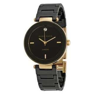 Anne Klein Diamond Dial Ceramic Bracelet Watch BNWT
