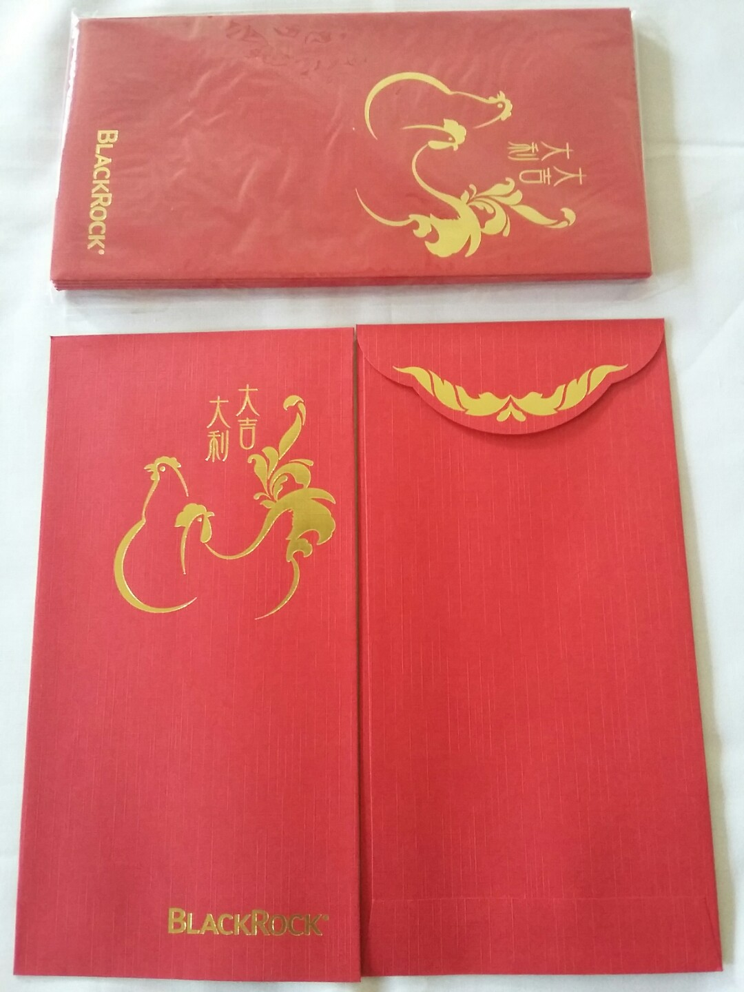 10 pcs *Blackrock* 2017 Red Packet / Ang Pow / Ang Bao / Hong Bao