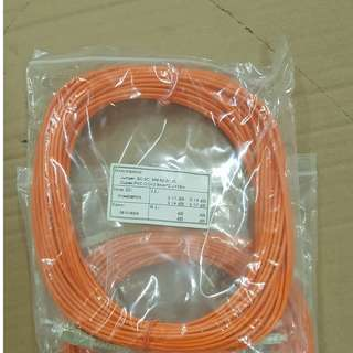 Fiber Optics Patch Cord, Duplex,OM1, 62.5/125um, SC-D/SC-D,3.0mm,PVC, 15.0m