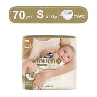 Drypers touch and wee wee dry tape s diapers