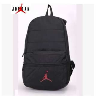 ★FREE BAPE Notebook with every bag purchased ★ NIKE JORDAN BACKPACK ★ NEW ARRIVALS ★BLACK RED ★ READY STOCK CAMPING