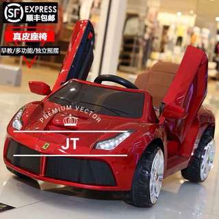 Red Ferrari Rechargeable Ride On Toy Car