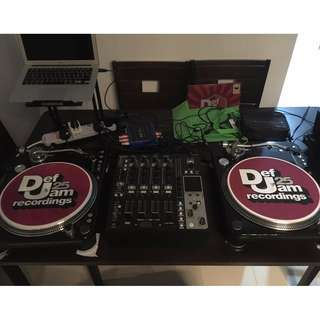 Selling audiotechnica Turntables and Denon mixer