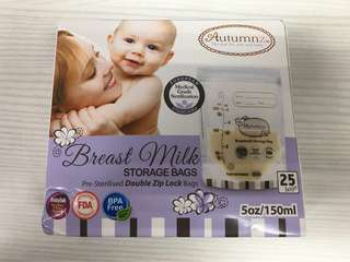 6 x Breast Milk Storage Bags Autumnz