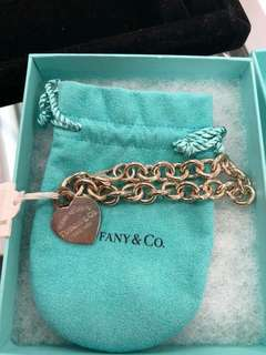 Authentic Tiffany & Co. Heart Bracelet