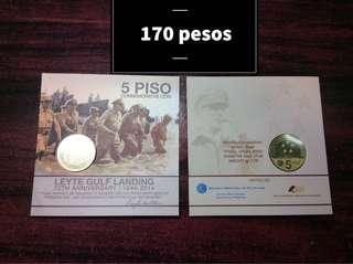 5piso Leyte Gulf Landing Coin Blister Pack