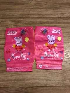 Preloved Zoggs Jr Peppa Pig Swim Armbands 2-6Y