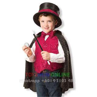 Magician Costume - Kids Role Play Costume Occupation Pretend Play Magician 3-7y