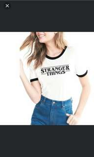 "(PO) Korean Ulzzang ""Stranger Things"" Crop Ringer Tee"