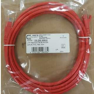 Cat.5e U/UTP Patch Cord,LSOH,3m,Red