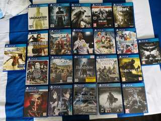 PS4/PS3/Ps vita/3DS Games sell or trade