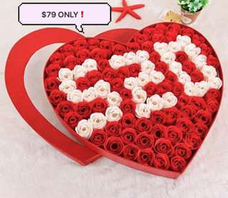 ❤️'520' stands for 'I love you' ❤️99 stalks of handmade soap rose gift box🌹🌷Ideal for Valentine's Day/Marriage Proposal/Birthday/Anniversary. Avail in 2 colours : Romantic Red & Sweet Pink 😄
