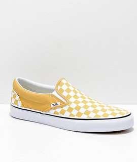 Yellow Checkerboard Slip-on