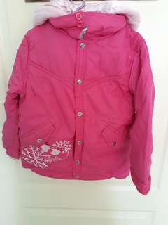 Pink winter jacket for girls