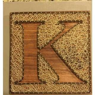 Custom made String art letters