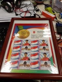 Joseph Schooling Olympics Stamps