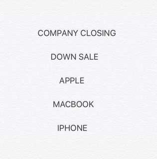 Company closing down sale