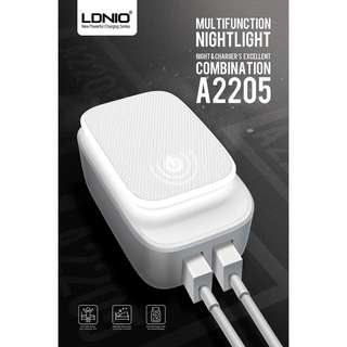 LDNIO 2 in 1 LED Light Touch Lamp + 2 Dual Double USB