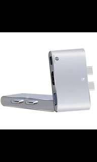 Type C thunderbolt 3 in 1 adapter (hdmi, USB, thunderbolt)