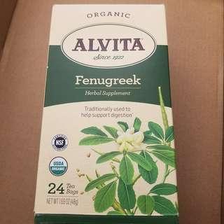 organic fenugreek tea 有機胡盧芭茶 媽媽茶